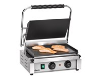 """Grill contact """"Panini-T"""" lisse - grande surface avec minuterie"""