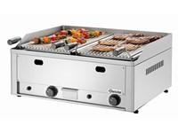 Grill à pierre de lave 70 à gaz avec grill pour viande