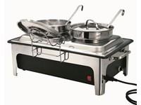 Chafing dish électrique - soupière 2 cuves de 4L
