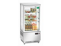 Mini vitrine réfrigérée 78L - acier inoxydable