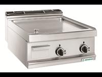 Grillade électrique Varipan - plaque lisse acier / 2 zones de cuisson