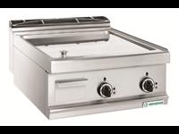 Grillade électrique Varipan - plaque lisse chrome / 2 zones de cuisson