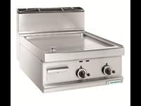 Grillade Gaz Varipan - plaque lisse acier - 2 zones de cuisson