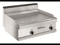 Grillade électrique - plaque lisse acier - 2 zones de cuisson