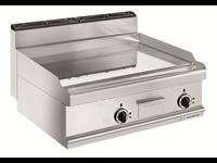 Grillade électrique - plaque lisse chrome - 2 zones de cuisson