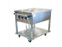 Bain marie mobile 2 cuves